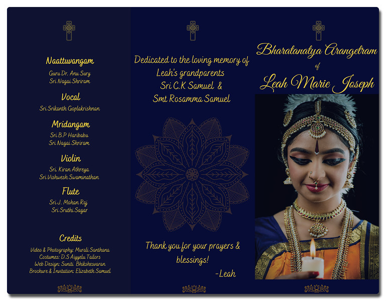 Leah's Bharatanatyam Arangetram 2020