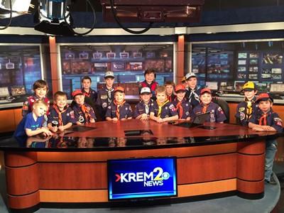 20150110 - Cub Scouts Visit TV Station