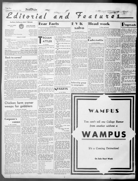 Daily Trojan, Vol. 37, No. 15, November 21, 1945