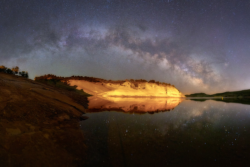 Milky Way Over Red Fleet Reservoir