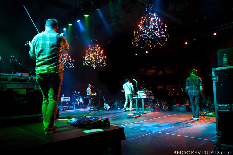 Mike Hogan, Jack Parker, David Crowder, and Mark Waldrop of David Crowder Band perform at Manatee Convention Center in Palmetto, Florida on November 6, 2011