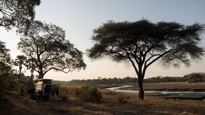 Wild camping in Katavi NP