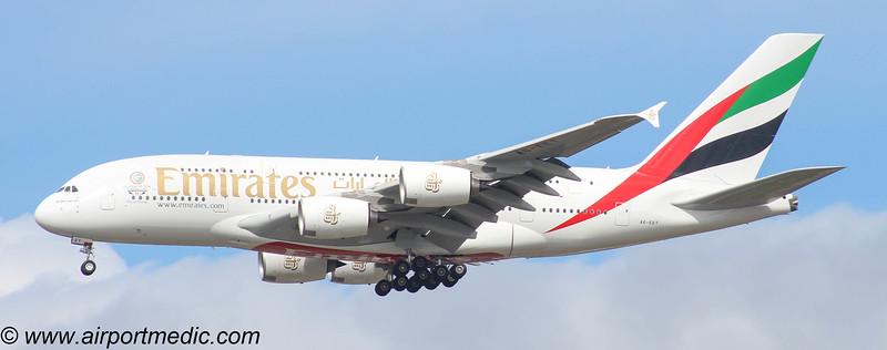 A6-EET A380 Emirates @ Glasgow (EGPF)
