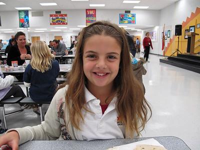 Morgan - breakfast at school with the Principal