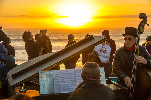 Sunset Piano at Half Moon Bay • Feb 2013