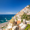 Overlooking the Church in Positano, Amalfi Coast, Italy