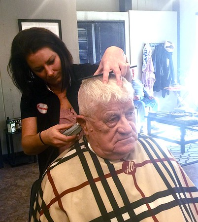Haircuts for Veterans at Jake's Barber Shop - 111218