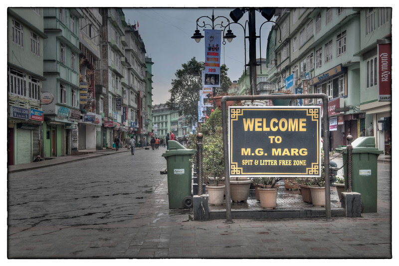 M. G. Marg is the main pedestrian street in Gangtok capital of Sikkim, India.