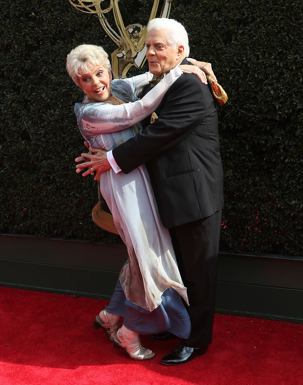 . Susan Seaforth Hayes, left, and Bill Hayes arrive at the 45th annual Daytime Emmy Awards at the Pasadena Civic Center on Sunday, April 29, 2018, in Pasadena, Calif. (Photo by Willy Sanjuan/Invision/AP)