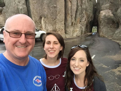 Joe with Rachel and Becca on summer vacation 2016