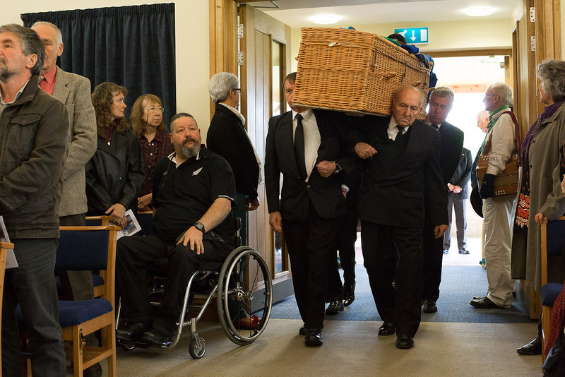 Chris Hall's funeral and Wake