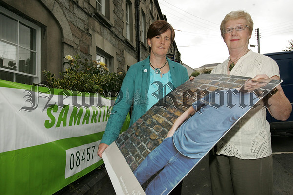 Maura Grant Director Samaritans Newry is pictured with Minister for Education Caitroina Ruane. 07W30N22