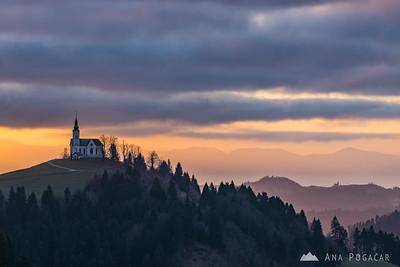 Sunrise from Črni vrh - Dec 29, 2015