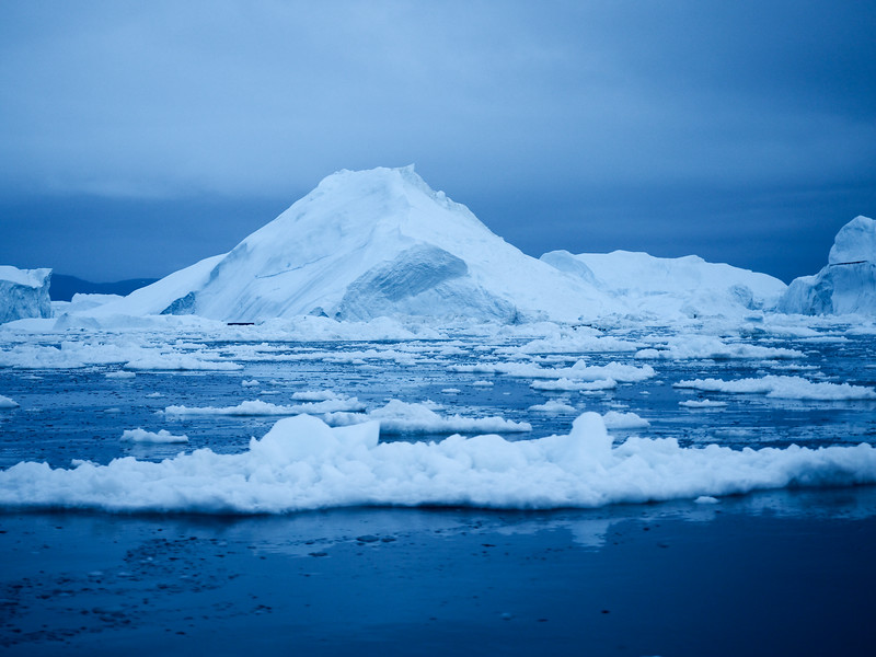 Twilight on the Ilulissat Icefjord