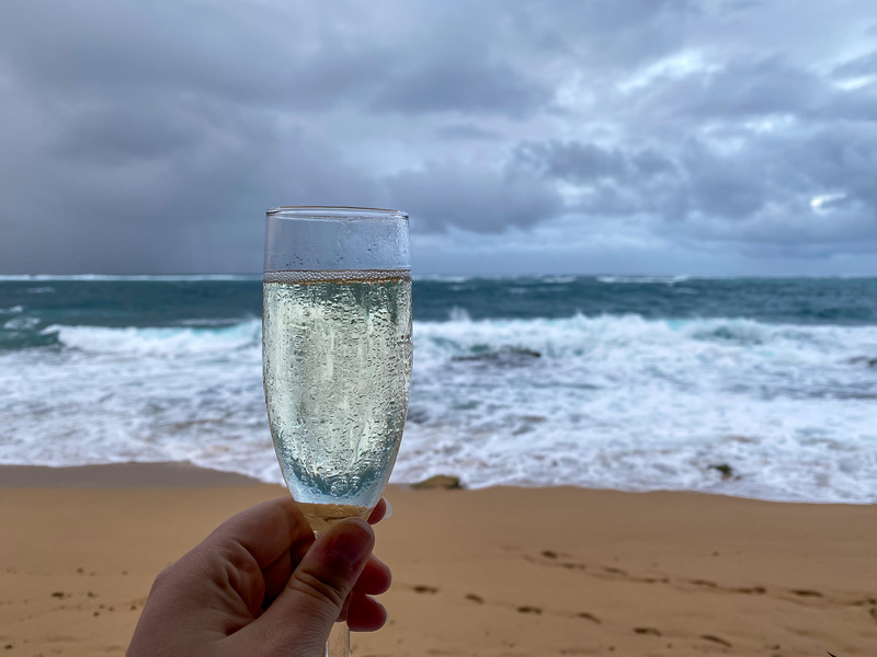 Champagne in Puerto Rico