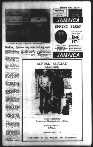 Daily Trojan, Vol. 111, No. 40, March 12, 1990