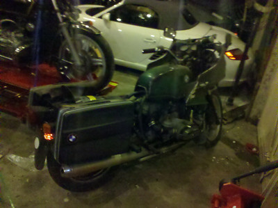 My 1980 BMW R100RT - not started yet