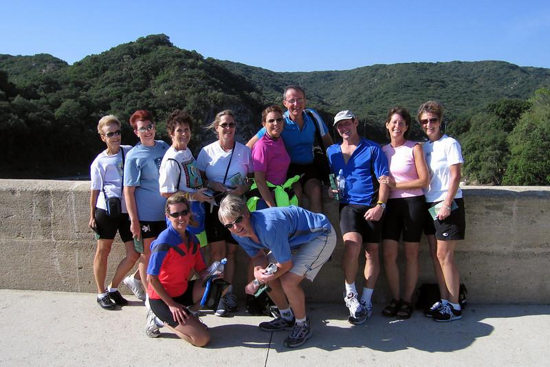 Our group at Pont du Gard