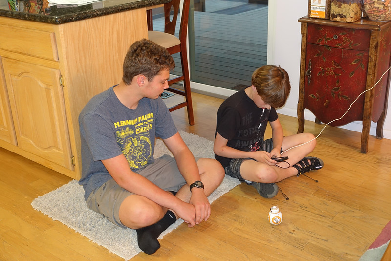 One accomplishment was that Brady executed his first complete program on his BB8 with guidance from big brother Ethan.