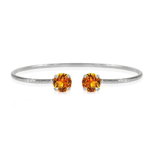 Classic Petite Bracelet / Tangerine Rhodium
