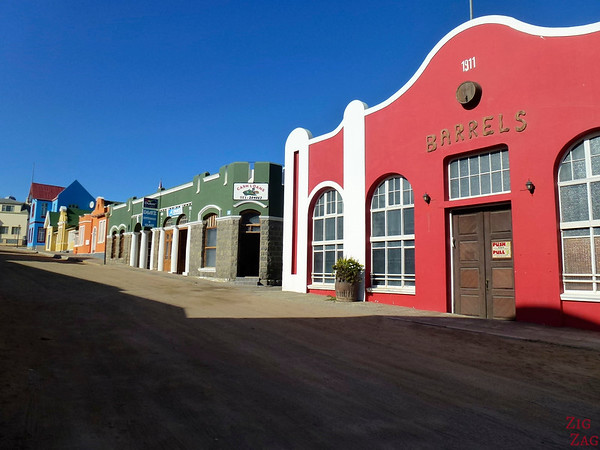 Colorful streets of Luderitz, Namibia