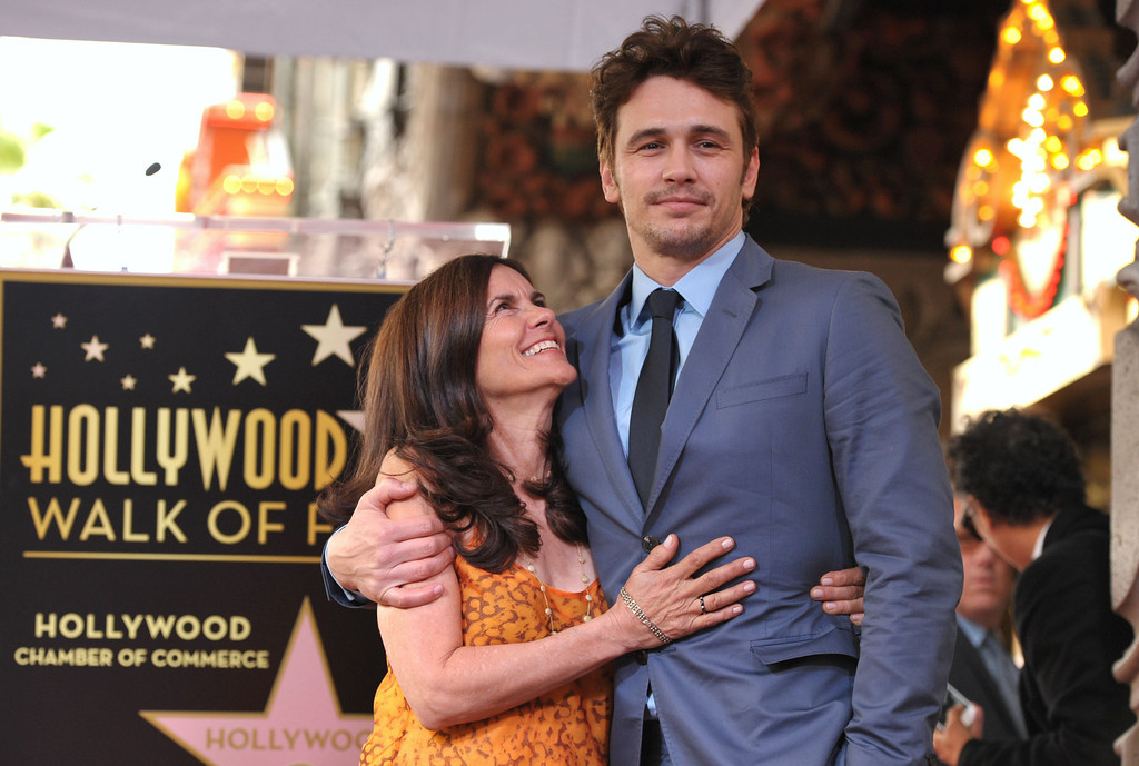 . Actor James Franco, right, poses with his mother Betsy Franco at a ceremony honoring him with a star on the Hollywood Walk of Fame on Thursday, March 7, 2013 in Los Angeles. (Photo by John Shearer/Invision/AP)