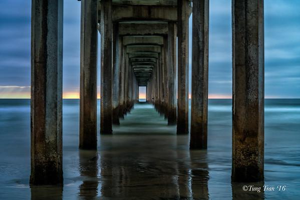 Sunset Scripps Pier 8-8-2016