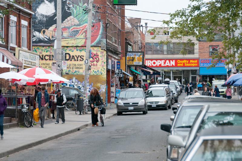 Street scene in Toronto, Ontario, Canada