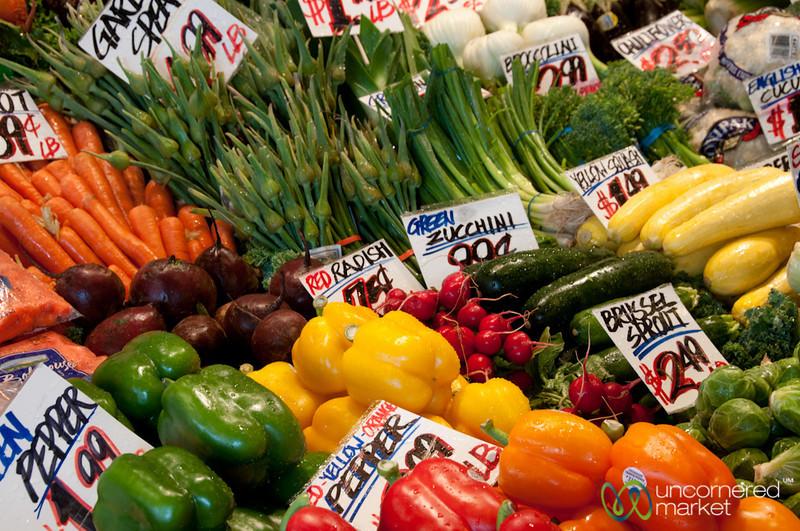 Summer Vegetables at Pike Place Market - Seattle, Washington