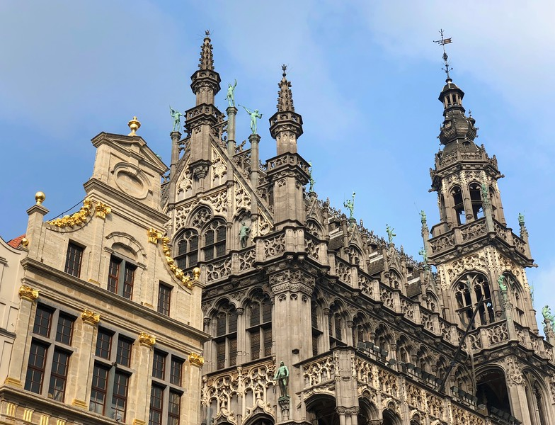 Detail on King's House - Brussels