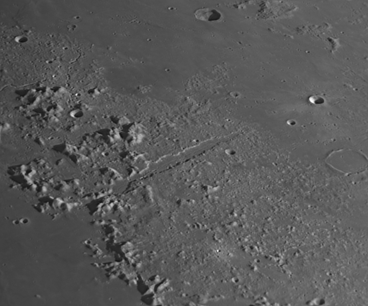 Vallis Alpes and its rima (Apr 2, 2020)