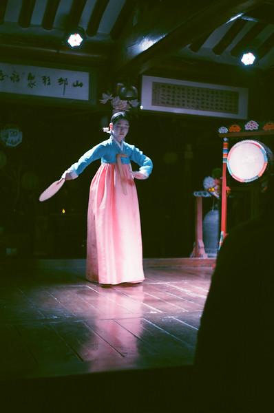 Traditional Korea Dance in Insadong, Seoul