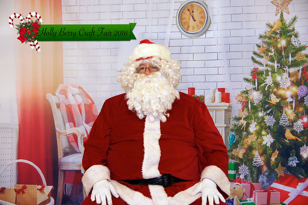 Holly Berry Craft Fair 2016 Santa