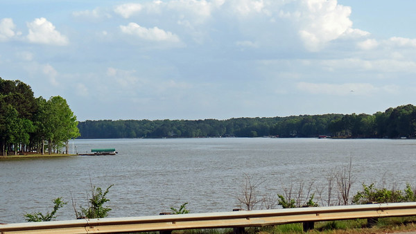 April 16, 2017:  A cruise to Lake Oconee in the Jag .  .  .