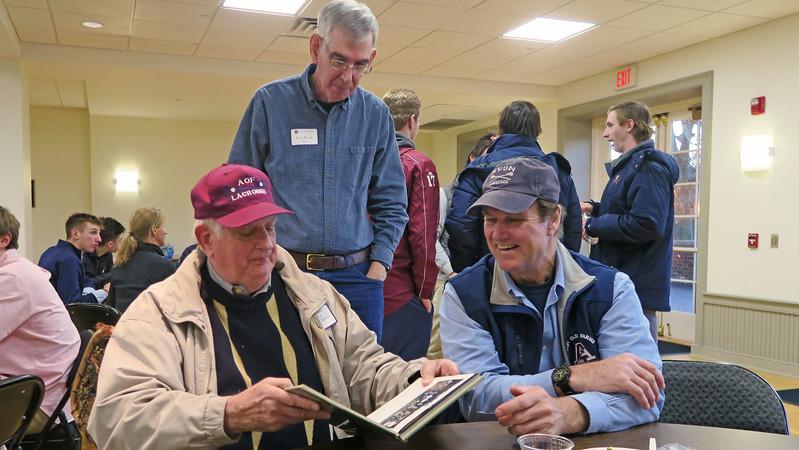 "Poulson ""Pope"" Reed '63, brother Dan Reed '68 and Tim Trautman '75, P'03 take a trip down memory lane."