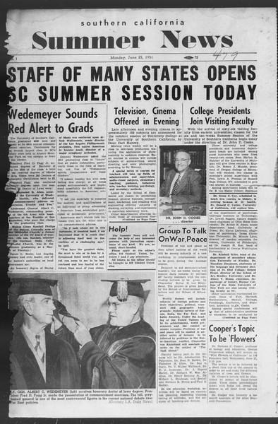 Summer News, Vol. 6, No. 1, June 25, 1951