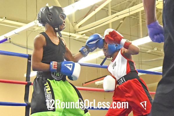 Bout 7 Marshaun Heard, Red Gloves -vs- Abdur Mason, Blue Gloves, 1 Min. Rds.