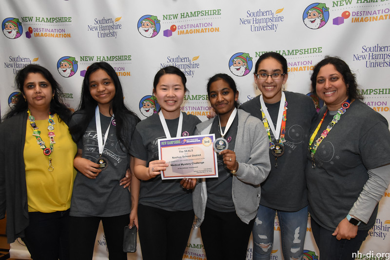 3rd place. 130-19415 ,Nashua School District, The SEALS, Nashua, NH, Scientific Challenge- Medical Mystery , Secondary Level
