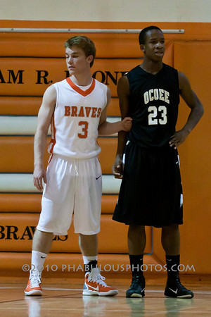 Ocoee @ Boone Boys Varsity Basketball - 2010