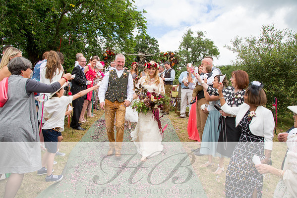 Kirsty & Ralph's glorious wedding on a hill, July 2016