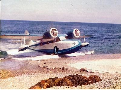 Air Catalina Grumman G-21 Goose N14CS, 3/27/75