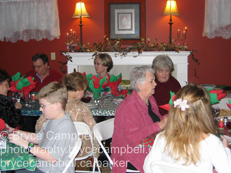 Christmas dinner at the Stirlings house, December 25, 2003 with the whole family and dogs.