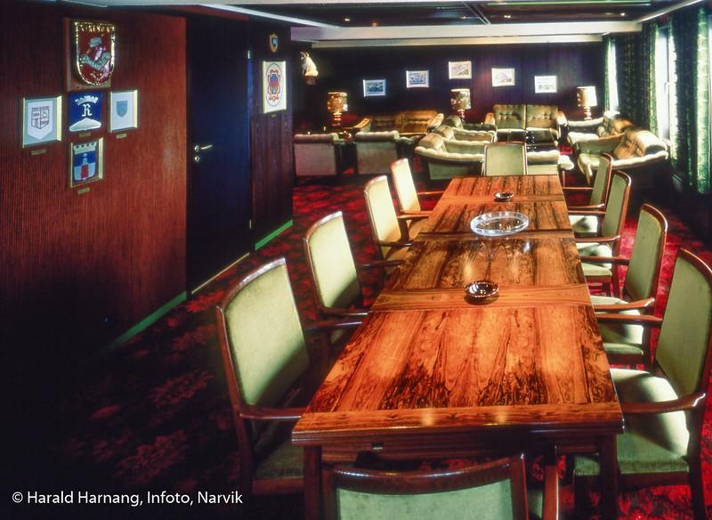 """Inventar i møterom i 7. etasje på Grand Royal Hotel, også kalt """"Privaten""""."""