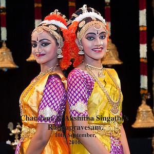 Chandana & Akshitha Singathi's  Rangapravesam