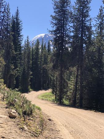 Mt Adams visible ahead