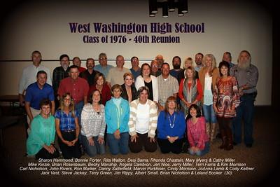 West Washington Class Reunions