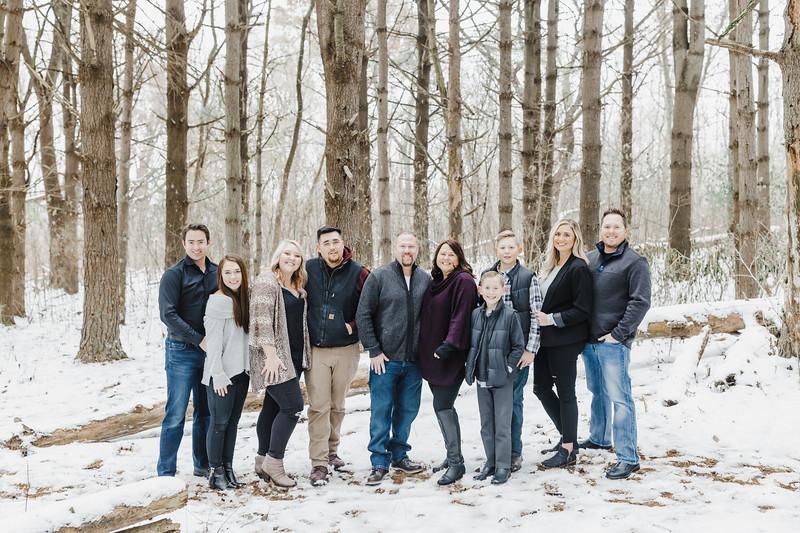 Allison, Dakota and Family | Winter Family Session