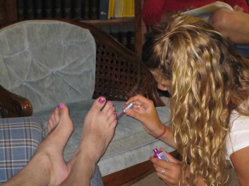 Pretty toenails, Steve!