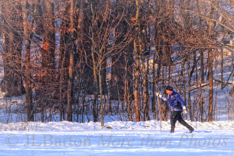 Skiing in Vienna 2010-12-22  When there is enough snow, the city runs cross country trails through the parks, as here late afternoon in the Schwarzenberg Park in Vienna's 17th district.    Amazing, and fun comments on yesterday's picture.  My first time in the top ten!  You are amazingly skilled people, and I thank you.
