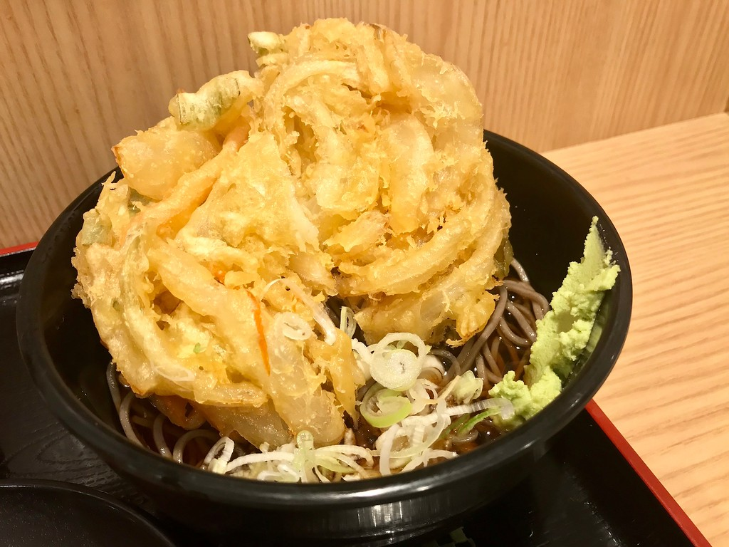 A huge jumbo vegetable tempura that's almost the size of the bowl. Sadly, not worth your time.